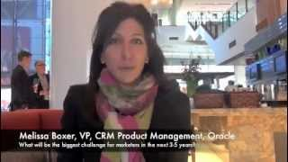 Customer Intelligence Forum Video Blog: Melissa Boxer, Oracle
