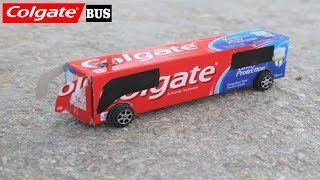 How to Make a Bus - Colgate Bus - How to Make a Electric Bus With Dc Motor
