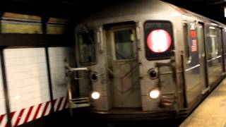MTA NYC Subway : Flatbush Avenue - bound R62A (2) Train (with Horn Action) Arriving at Fulton Street