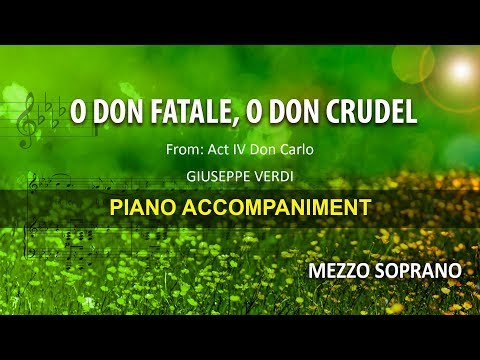 O don fatale / Verdi: Karaoke + Score guide / Mezzo soprano