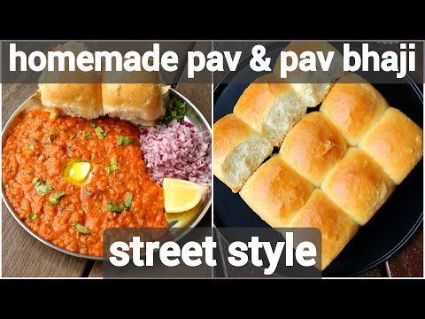 pav bhaji recipe with homemade pav in cooker | easy mumbai style pav bhaji  & pav in cooker