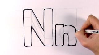 How to Draw a Cartoon Letter N and n