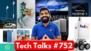 Tech Talks #752 - Galaxy A90, Mi Earphones, Boeing Fighter Jet, Airpods 2, Realme 3, Delivery Robot
