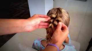 № 3.Hairstyle for girls. Kos using gum. Коса с помощью резинок.