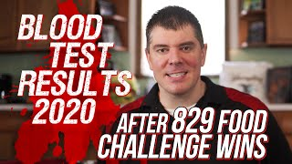 2020 Blood Test Results After 10 Years and 829 Food Challenge Wins!!