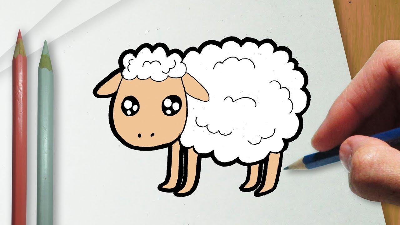 Como Desenhar Uma Ovelha Kawaii Youtube