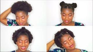 NATURAL HAIRSTYLES FOR SHORT 4C HAIR |BeautyWithPrincess