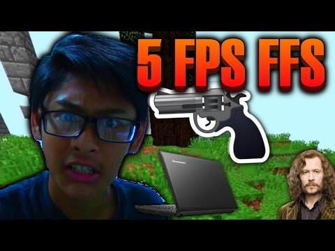 How To Play Minecraft At 5 FPS! - Playing On My Crap Laptop