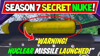 "FORTNITE SEASON 7 SECRET ENDING FOUND?! ""NUKE MISSILE INBOUND"" EVENT! (Storyline / Map Changes)"