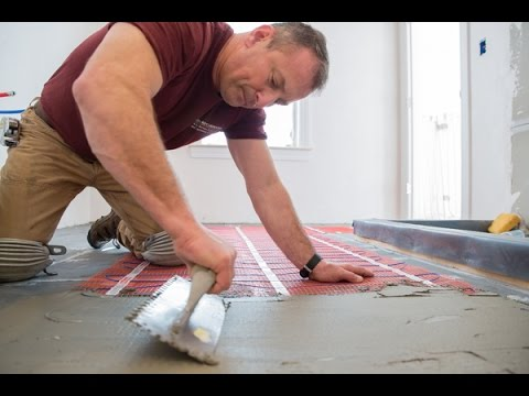 Warmup Electric Radiant Heat StickyMat System Review YouTube - Heated bathroom floor systems