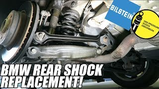 HOW TO 2006 BMW 330i e90 Rear Shock Replacement - New GARAGE UPDATE!