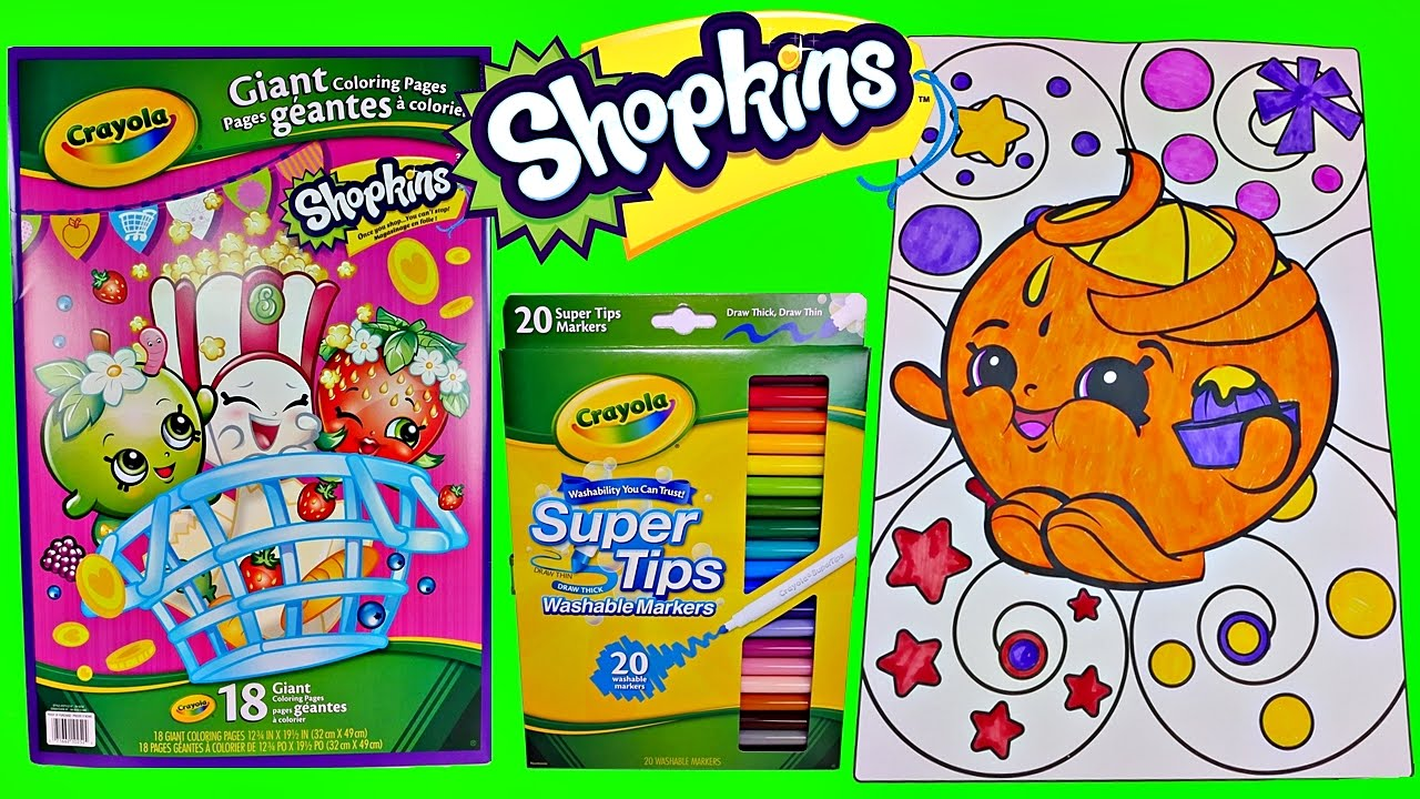 cool shopkins speed coloring juicy orange w crayola markers fun coloring videos for kids youtube