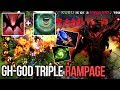 9k GH GOD Shadow Fiend EPIC 3x Rampage Naga Song Combo Dota 2