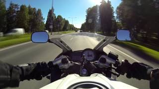 "Yamaha YZF R125 ""0 to 60"" without clutch (GoPro Hero3)"