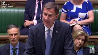 Jeremy Hunt statement on Iran's illegal seizure of the Stena Impero in the Strait of Hormuz thumbnail