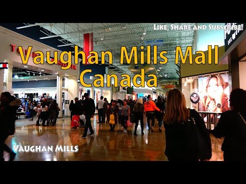 [4K] Walking Tour Of Vaughan Mills Mall, Outlets Warehouse Shopping Centre, Vaughan, Ontario, Canada