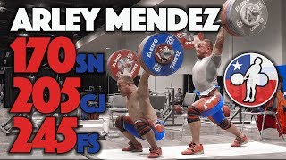 Arley Mendez Heavy Training (170 Snatch, 205 C&J, 245 FS) - 2017 WWC Training Hall [4k 60]