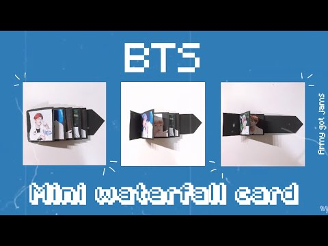 DIY BTS Mini Waterfall Card | ARMY got jams