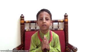 Kids Srila Prabhupada Vyas Puja offering by Aum