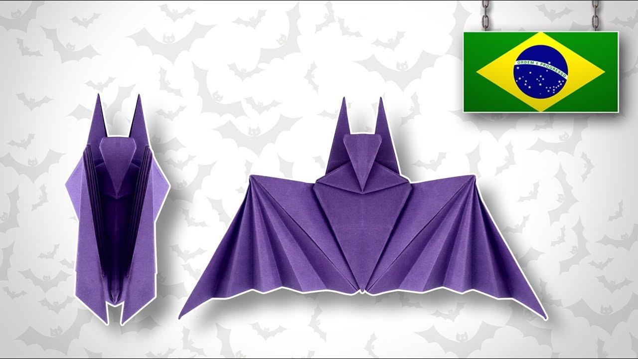 Halloween Bastelideen Youtube.Origami Halloween Bat Youtube