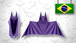 Origami: Morcego de Halloween - Instruções PT-BR