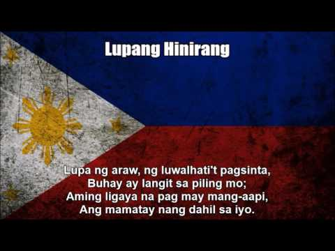 Philippines National Anthem  Lupang Hinirang Nightcore Style With Lyrics