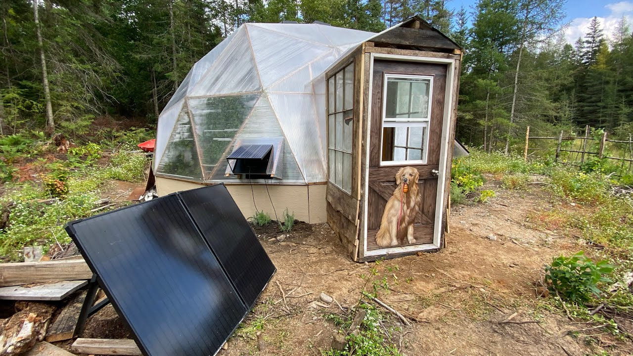 Off Grid Greenhouse Build in the Wilderness Timelapse