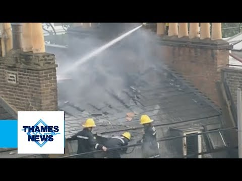 Explosion Causes Fire in London | The Beverley Hotel (Paddington) | Thames News Archive Footage