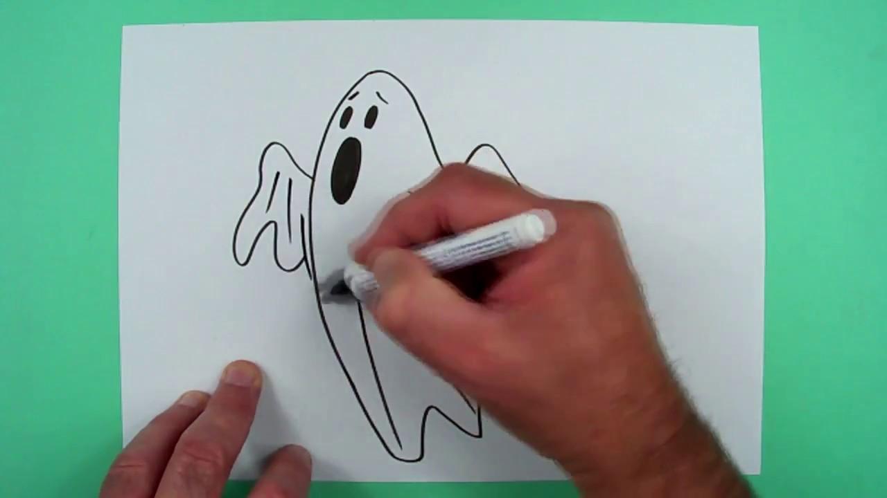 Halloween Gespenst In Einer Minute Zeichnen Fur Kinder Youtube