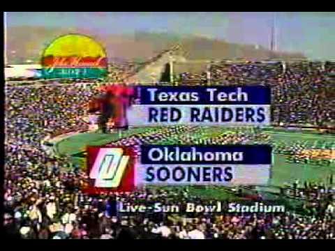 1993 John Hancock Bowl Texas Tech vs. Oklahoma CBS Intro