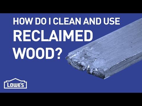 How Do I Clean & Use Reclaimed Wood? | DIY Basics