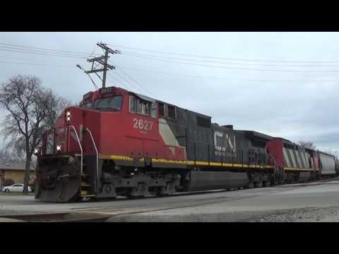 """A """"Western Service"""" Canadian National Freight Train"""