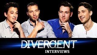 DIVERGENT Interviews Jai Courtney Miles Teller Ben Lloyd Hughes Christian Madsen