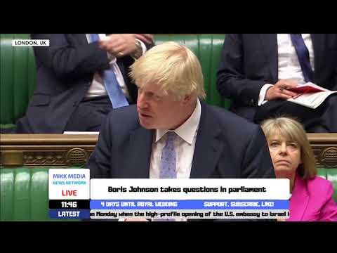Boris Johnson takes questions in parliament (15/05/2018)