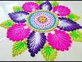 Innovative festival rangoli design II Easy and creative rangoli design