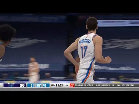 Aleksej Pokusevski | 3 POINT SPECIALIST HIGHLIGHT | April 7 | Hornets vs Thunder