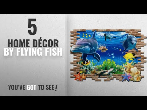 Top 10 Home Décor By Flying Fish [ Winter 2018 ]: Flying Fish Wall Sticker 3D Under Sea Wall Décor