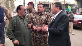 قائم مقام الموصل يطلع على الحركة التجارية في اسواق حي سومر بالجانب الايسر