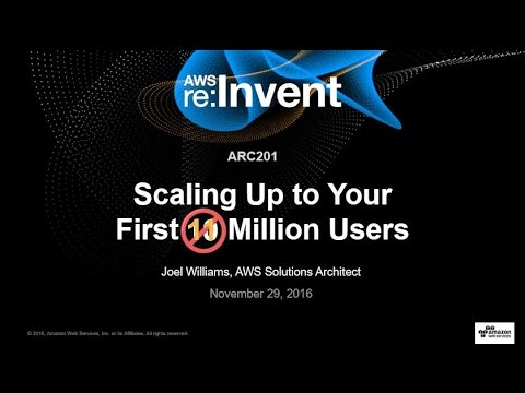 AWS re:Invent 2016: Scaling Up to Your First 10 Million Users (ARC201)
