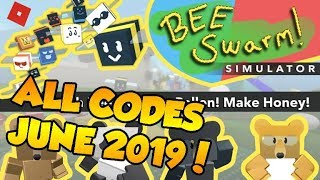 ROBLOX BEE SWARM SIMULATOR ALL CODES JUNE 2019!
