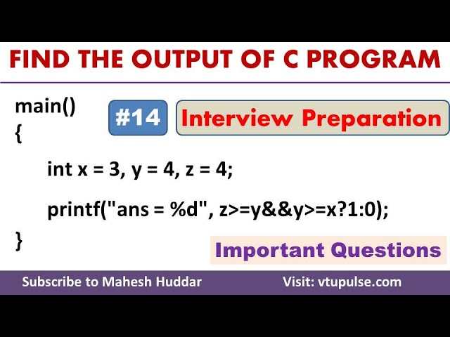 #14 Find the Output, Logical Operators, Conditional Statements, Campus Interview Preparation