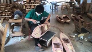 Factory racing  wooden boats models of   Vietnam