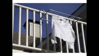 Moerman Laundry Solutions 88364 Handrail Airer Indoor Outdoor Clothes Drying Rack