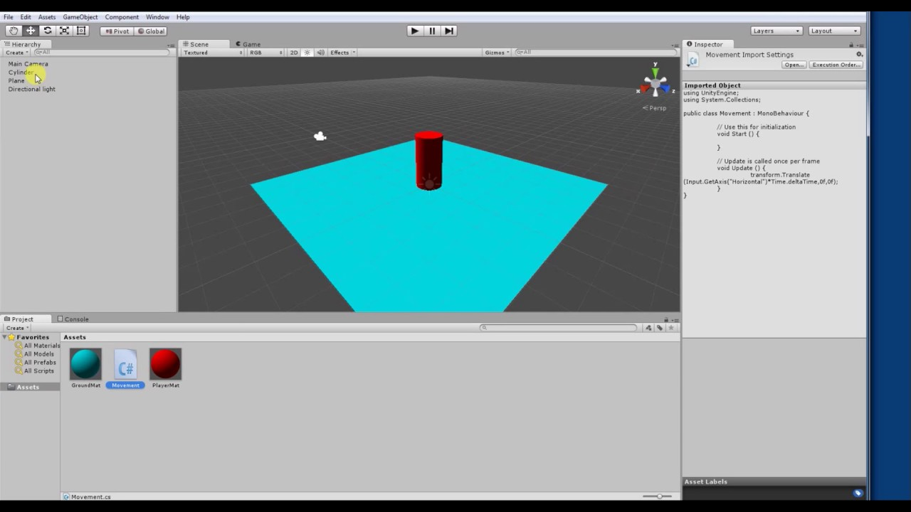 Unity Move Light Component