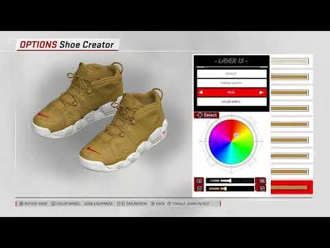 "NBA 2K18 Shoe Creator –  Nike Air More Uptempo x Supreme ""Gold"""