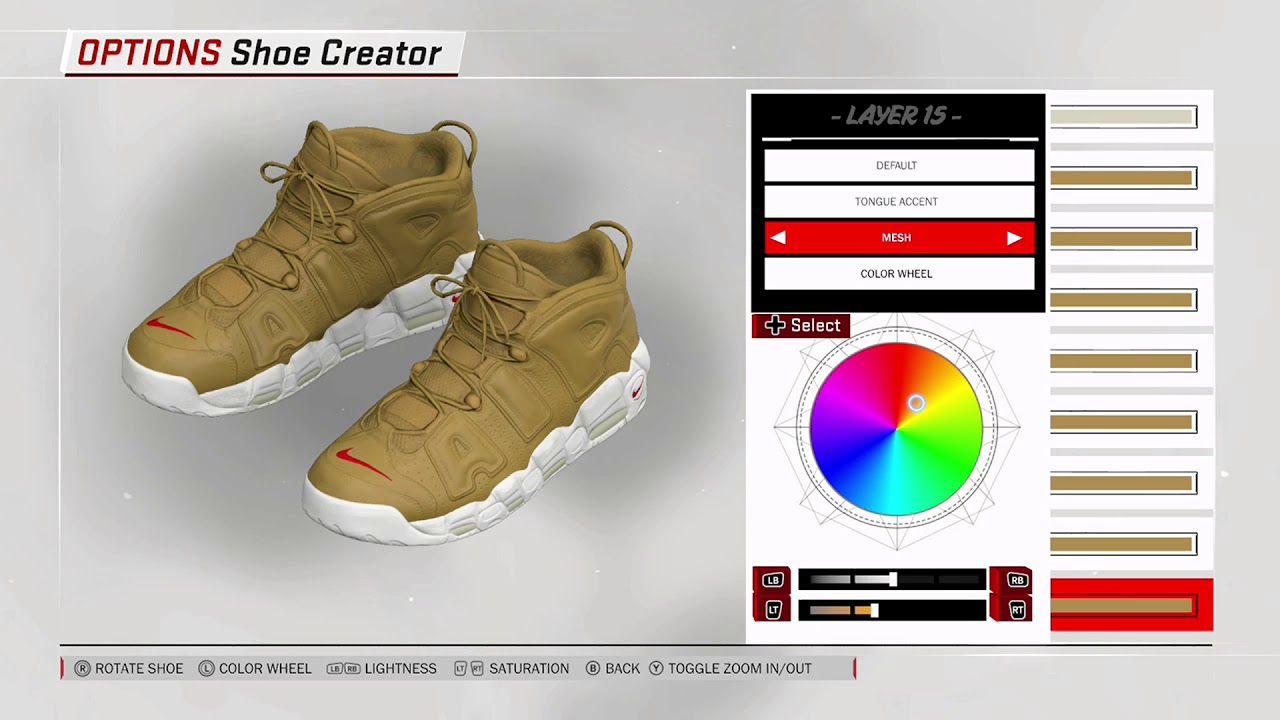 NBA 2K18 Shoe Creator - Nike Air More Uptempo x Supreme