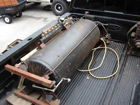 Old Champion Air Compressor 80 Gallon Circa 1937 Youtube