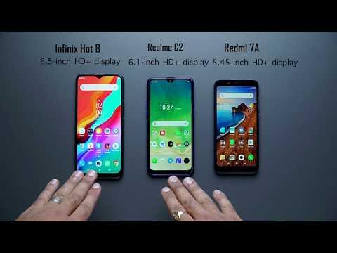 Infinix Hot 8 vs Realme C2 vs Xiaomi Redmi 7A: Full comparison, camera comparison, antutu benchmark
