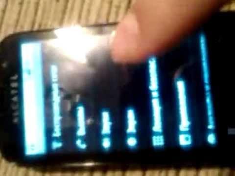 Дешёвый китайский дисплей на телефоне Alcatel One Touch 990
