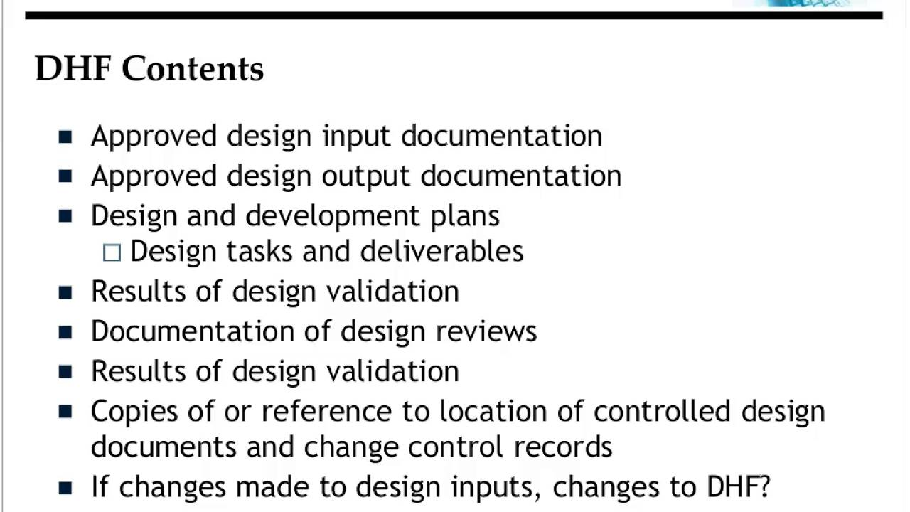 design history file dhf device master record dmr device